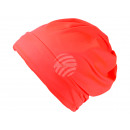 Großhandel Kopfbedeckung: Strickmütze Long Beanie, Slouch neon orange