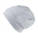 Großhandel Kopfbedeckung: Strickmütze Long Beanie Slouch weiss