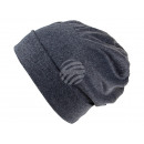 Großhandel Kopfbedeckung: Strickmütze Long Beanie, Slouch grau