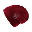 Großhandel Kopfbedeckung: Strickmütze Long Beanie Slouch rot