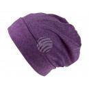 Großhandel Kopfbedeckung: Strickmütze Long Beanie Slouch flieder
