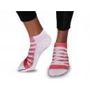 Motif Socks Shoes Red