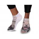 Großhandel Tücher & Schals: Motiv Socken Design:Leopard photorealistisch