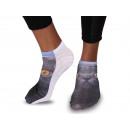 Großhandel Strümpfe & Socken: Motiv - Socken Katze Schwarz