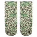 Motif socks dollars white green