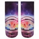 Scene Socks cat in  space black multicolor