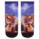 Motif socks Tiger blue orange white
