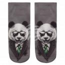 wholesale Stockings & Socks: Motif socks Panda suit in gray green