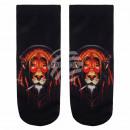 Motif socks lion with black headphones multicolore