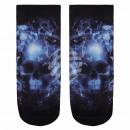 groothandel Figuren & beelden: Motif sokken  schedel in mist blauw
