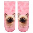 ingrosso Ingrosso Abbigliamento & Accessori: Calze con Stampa gatto rosa beige marrone