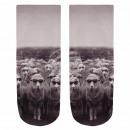 Großhandel Sonnenbrillen: Motiv Socken Schafe mit Sonnenbrille grau ...