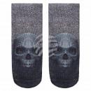 groothandel Figuren & beelden: Motif sokken schedel pixel zwart