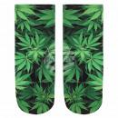 Motiv Socken Weed Hanf Cannabis schwarz grün