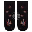 Motiv Socken Weed Hanf Cannabis multicolor