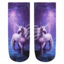wholesale Fashion & Apparel: Motif socks Unicorn purple blue