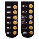 ingrosso Collant e calze: Scene calzini  Emoticons batteria multicolore nero