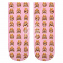 Scene sock monkey with crown pink beige yellow