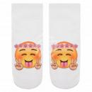 wholesale Stockings & Socks: Motif socks  Emoticon Garland Hippie white gel