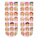 wholesale Stockings & Socks: Scene sock monkey   Nothing to say  pink beige brow
