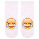 Großhandel Strümpfe & Socken: Motiv Socken  Emoticon Emoji  lacht weiss gelb ...