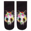 wholesale Stockings & Socks: Motif socks Panda  colorful black multicolor