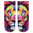 Motif socks lion multicolor