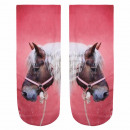 Motif sokken paard wit roze bruin