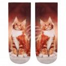 wholesale Stockings & Socks: Scene Socks cat brown beige