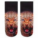 Motif sokken Cheetah zwart beige rood