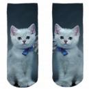 Motive socks blue white cat kitten