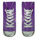 Großhandel Strümpfe & Socken: Motiv Socken lila weiß Schuhe lässig