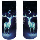 Motive socks multicolor deer moon