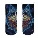 Großhandel Strümpfe & Socken: Motiv Socken Weltall Wolf multicolor ca. 37 ...