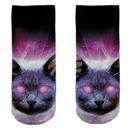 Motive socks multicolor cat sky