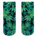 Motive socks black white hemp floral