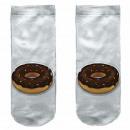 Motive socks white donut