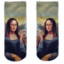 Motif socks multicolor Mona Lisa kiffen