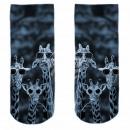 Motif socks blue white cool giraffes
