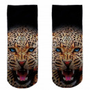 Motive socks black white leopard
