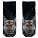 Motive socks black white sheepdog snow