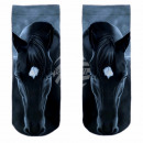 Motive socks blue white horse frontal