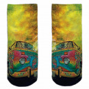 Motive socks multicolor hippie car