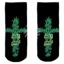 Motif socks black hemp cross holy smoke