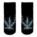 Motiv Socken Hanf verwaschen schwarz weiß