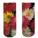 Motive socks black white flowers floral