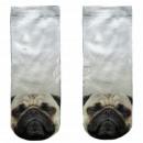 Motive socks white dog pug