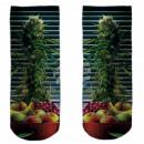 Motive socks multicolor fruit floral
