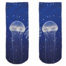 Motive socks blue white jellyfish sea