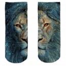 Motive socks multicolor lion snow
